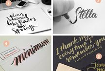 Brush Lettering & Calligraphy