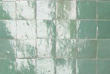 Turquoise en groen