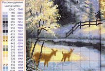 X-stitch nature/landscape / To all pictures is chart in the link, when I pin it... If get chart from there it might be little bigger :)