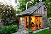 tiny buildings, houses, studios and retreats / outdoor retreats, little buildings, shacks, huts, cottages, cabanas and cabins