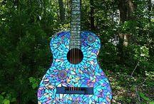 guitar & violin mosaics