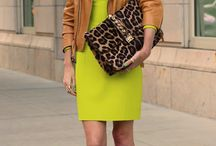 Neon Fashion / Shoes, dresses, outfits and handbags in vibrant neon hues