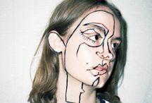 art concept • geometric faced pop art