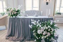 Столы жениха и невесты