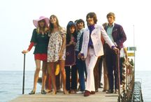 Pattie.. Birkin.. Maureen..  Ringo and George 1968 ♥