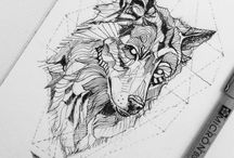 wolf/fox tattoo ideas
