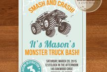 Jase's monster truck birthday party