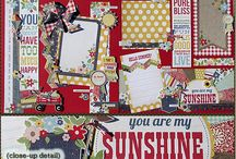 Scrapbooking Kits / Here we have our pre-cut, pre-designed scrapbooking layouts.