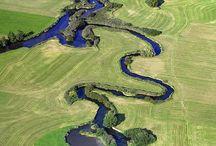 Linien in der Landschaft