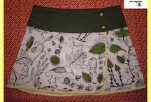 Faldas / faldas, reversibles, de colores,...