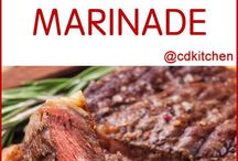 dressings, marinades and sauce receipes