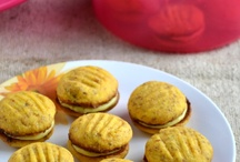 Eggless Cookies / Chocolate Melting Moments With Orange Cream