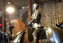Medieval Armor - Tower of London / Inside the White Tower at the Tower of London is an incredible display of medieval armor to include the armor that the horses were outfitted with.