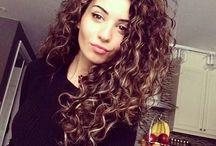Curly hair cut nd colour