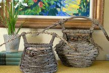 Palm basketry