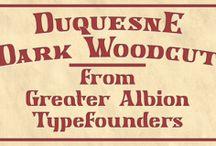 Duquesne Dark Woodcut Font Download