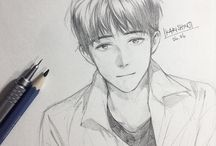 Cute guy sketches