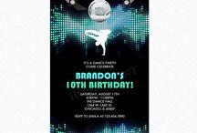 Birthday Party Invitations / Birthday party invitations by Honeyprint