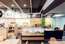 Schmatztruhe Karlsruhe / Unser Raum-Konzept für einen Food Court in der Karlsruher Fußgängerzone.