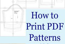 how to print patterns from a pdf programme