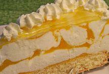 Käse Sahne Torte mit Pfirsich