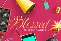 The Blessed Print Font Bundle / Get 7, fully accessible, gorgeous script fonts all by Blessed Print for just $19. Normally priced at $122!