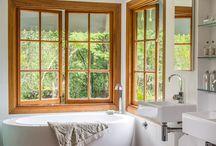 timber windows white skirting