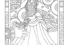 coloriage steampunk