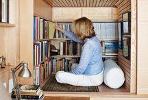 Libreros y rincones de lectura