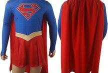 CBS Supergirl costumes / DC Comics Supergirl superhero cosplay costume Jumpsuit women girls