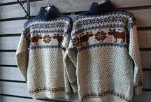 Strikka gensere og Kofter