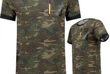 Heren Long T-Shirt KHAKI