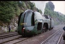 stoomtreinen en treinen