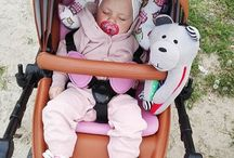 Whisbear on the go / Whisbear loves car seats, strollers, prams, cots, baby swings, playards, baby bouncers, and many more :-)