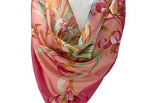 Silk Scarfs / Silk Scarf, Hand Made of Silk