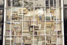 Book cases.