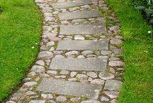 paved garden paths
