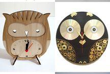 owl clocks