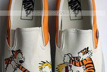 Sapatos de lona pintados