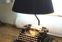 typewriter lamps diy