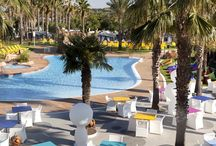 RELAX pool / Family pool with slides and large grass area with sunbeds and parasols