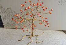 Handmade wire trees