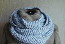 Knit Scarf Chunky, Scarf Hand Knit