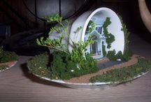 Miniature Garden Ideas / Fairy Gardens, Terrariums, Miniature Gardens