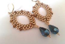 handmade earrings of gold