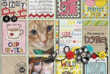 CATS / anything to do with cats, my cat, scrapbooking supplies, pages. anything.  / by april wilder
