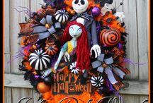 Nightmare Before Christmas Wreaths - by Irish Girl's Wreaths / NBX wreaths made and sold by Irish Girl's Wreaths (me!)
