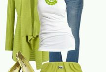 Lime green clothes/jackets
