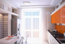 Apartments in a Modern Style / The modern interior with clean lines and pastel colors