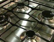 Limpando fogão